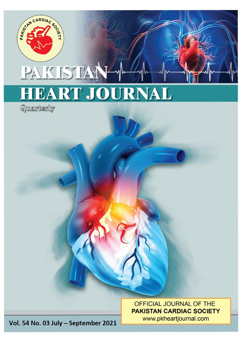 View Vol. 54 No. 3 (2021): Pakistan Heart Journal